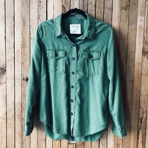 Green army / utility top by Mossimo
